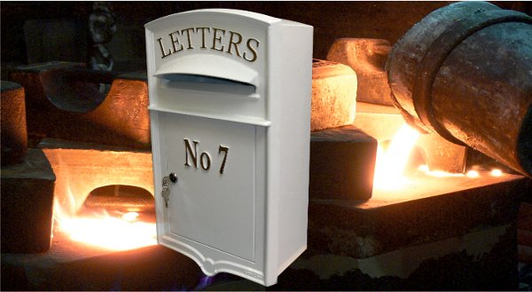 A Lumley Designs Cast Iron Letterbox