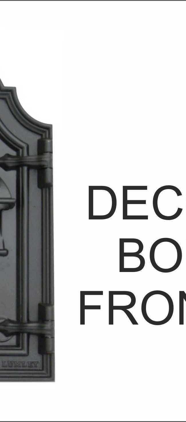 Decorative Bourdon front opening front plate